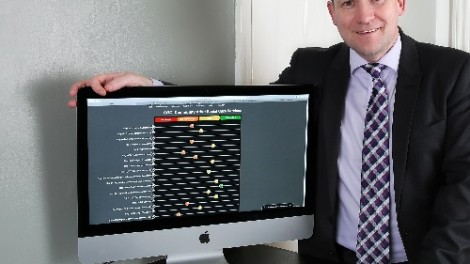 Brian Donnelly with the iCOPS system